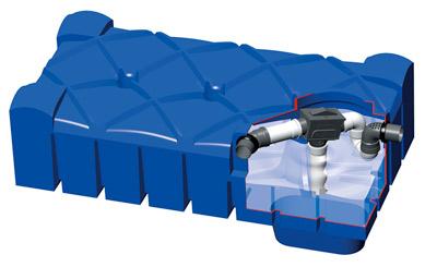 shallow dig filter tank
