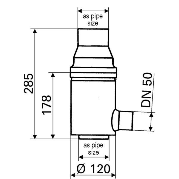 Garden downpipe filter dimensions