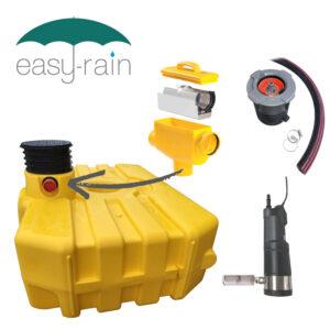 3000 litre shallow-dig garden rainwater harvesting system
